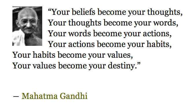 Accountability for yourself - Gandhi