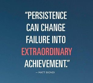 Superhuman Persistence To Extraordinary Achievement